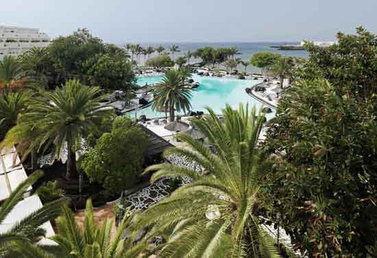 Meliá Salinas. Lake pool designed by César Manrique. Costa Teguise, Lanzarote