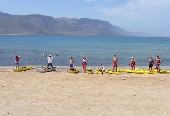 Canoeing in Lanzarote