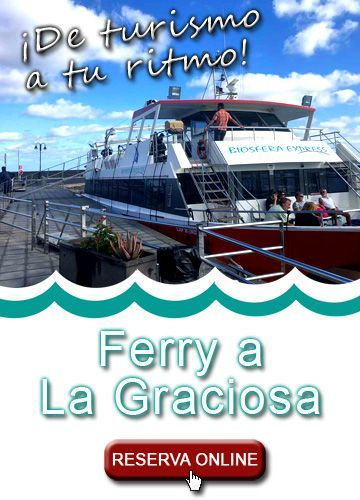 ferry a la graciosa barco de linea regular